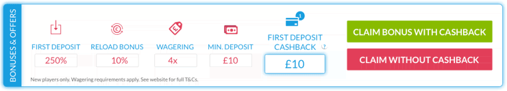 First deposit cashback review